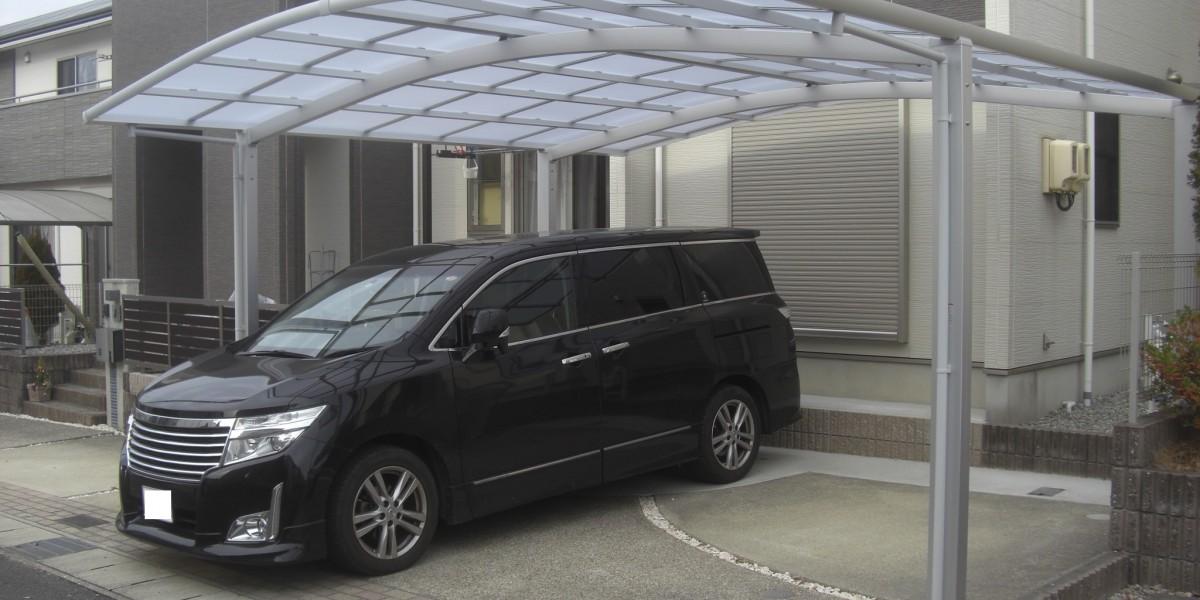 駐車スペース拡張とお庭の手間対策・カーポート・ウッドデッキ|犬山市S様邸