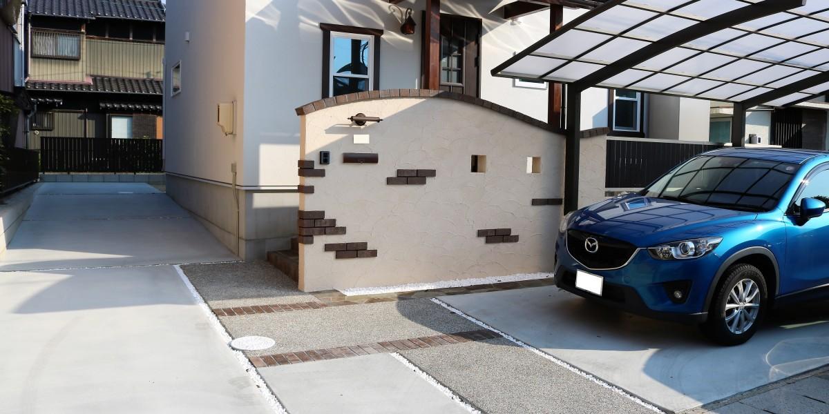 ナチュラルでかわいい新築外構工事|扶桑町