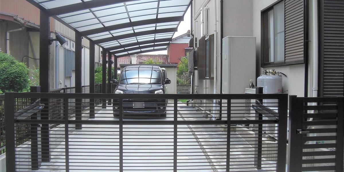 駐車場と門まわりのリフォーム工事 犬山市