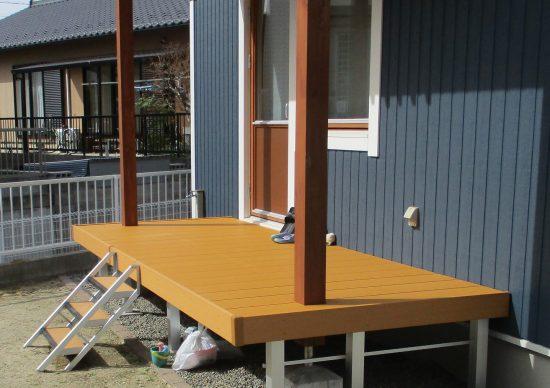 小牧市M様邸の施工事例|ウッドデッキ ステップ 特殊加工