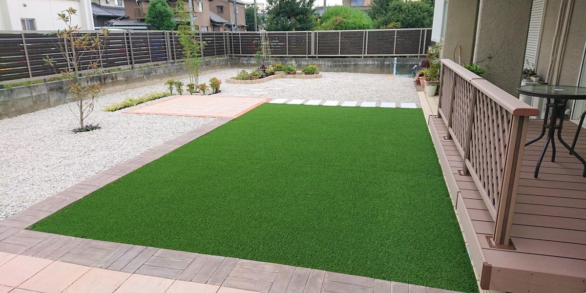雑草の管理が大変だった庭をお茶を飲みながら眺めて楽しめる庭にリフォーム|江南市