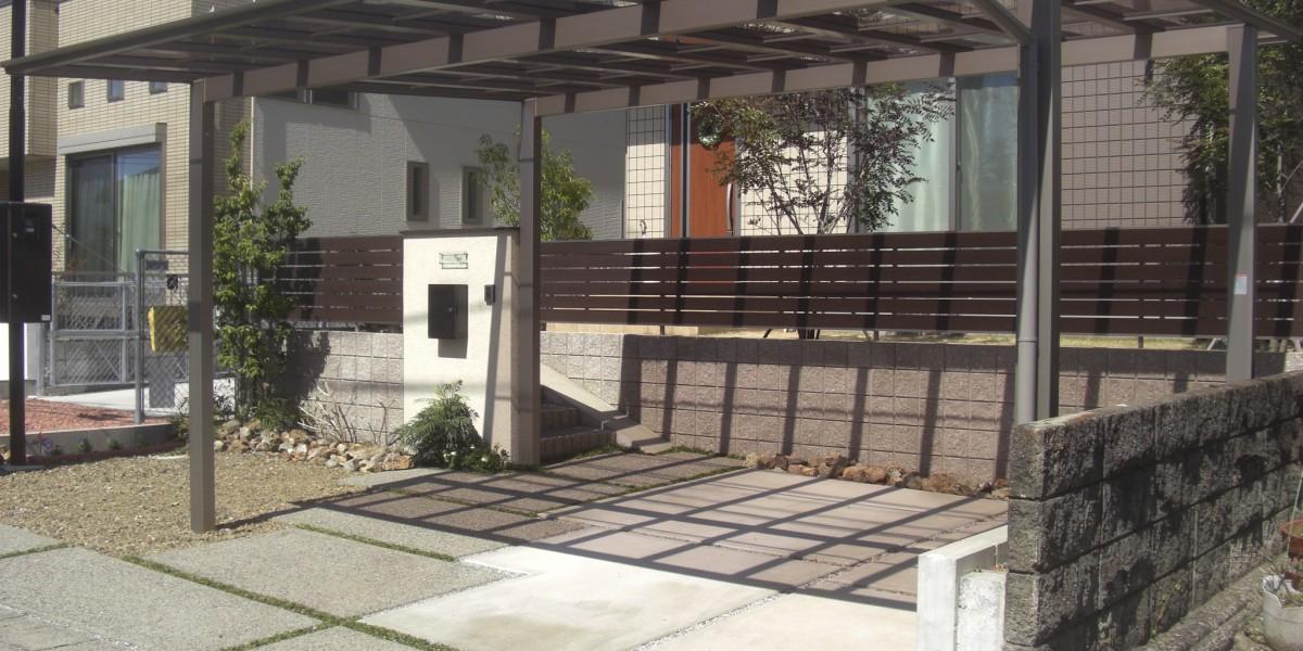 スタイリッシュでかっこいいカーポートの施工例 犬山市