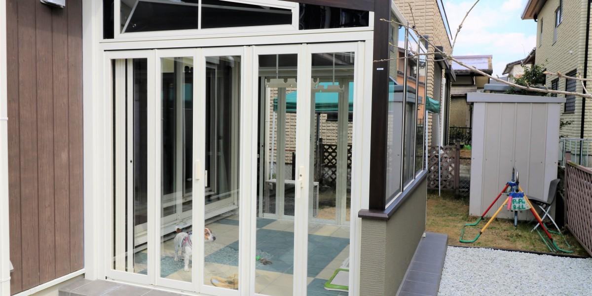 愛犬用のガーデンルームの取付工事|犬山市
