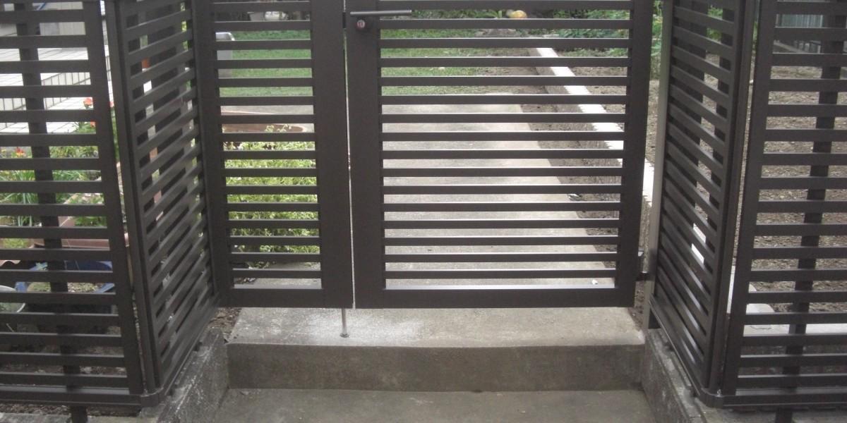 古くなった既設伸縮門扉の交換と門扉・フェンス設置工事|犬山市