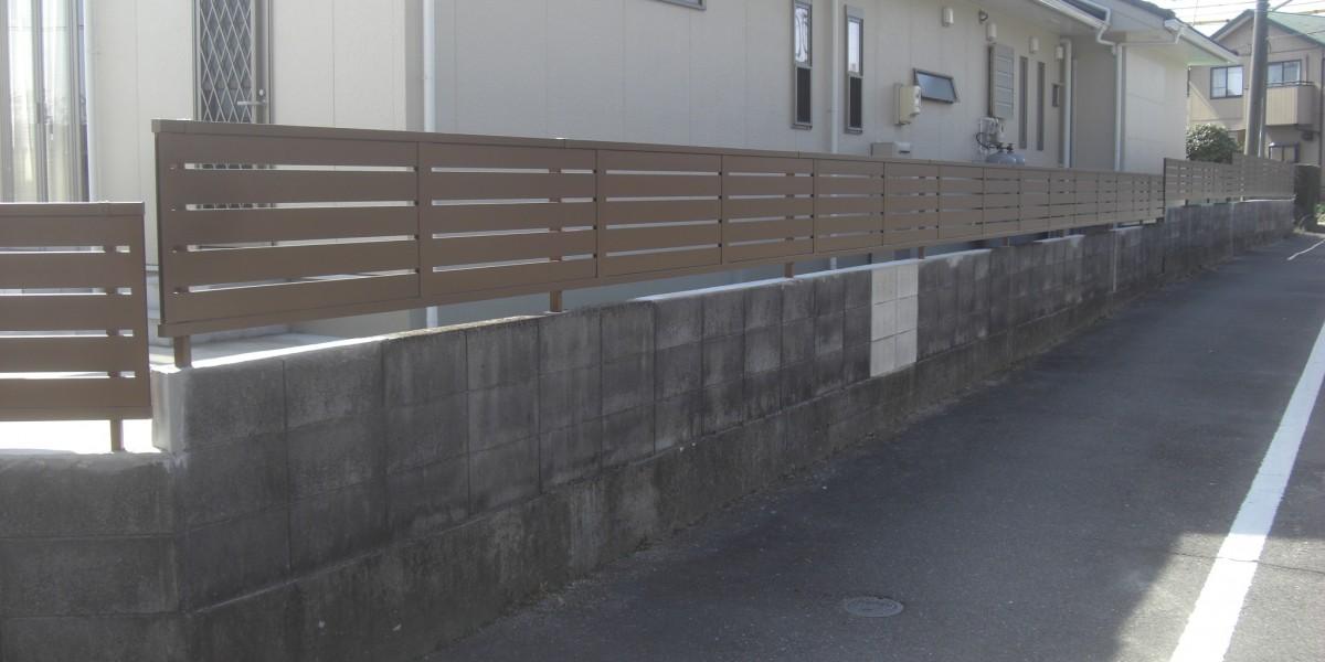 地震対策によるブロック塀改修工事の施工例