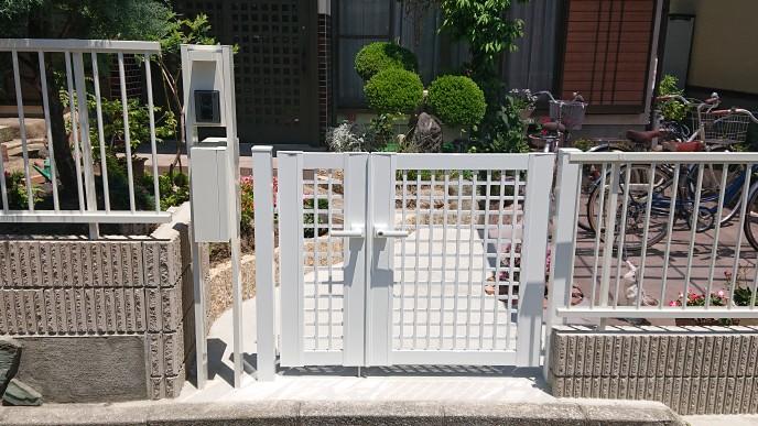 ブロックの積み替えと門まわりのリフォーム工事