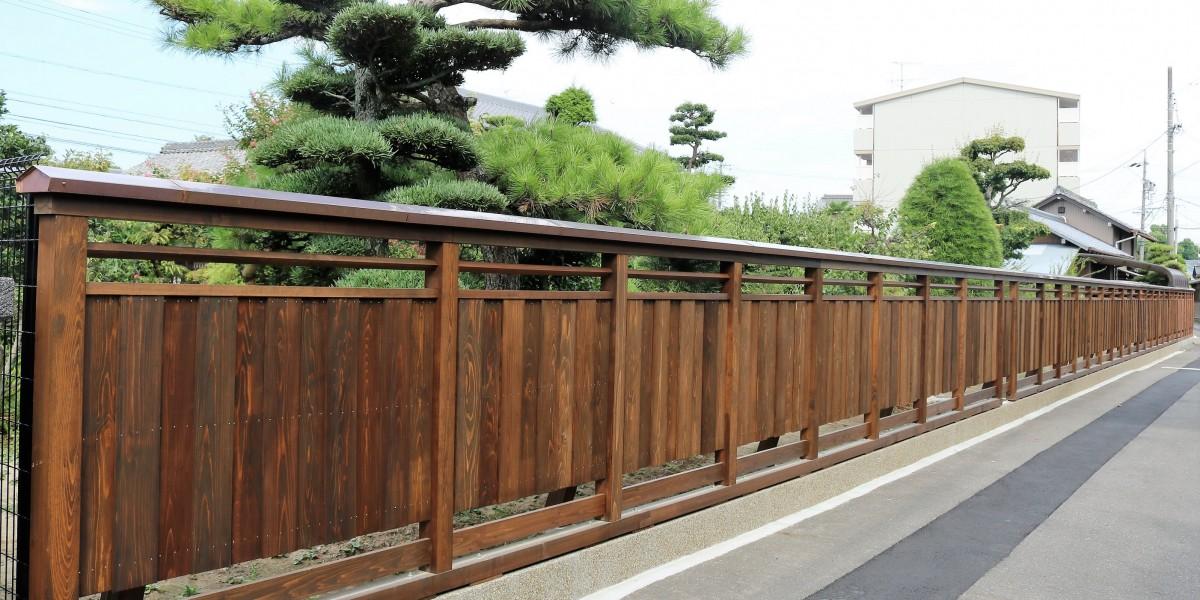 杉板 和風板塀造作工事