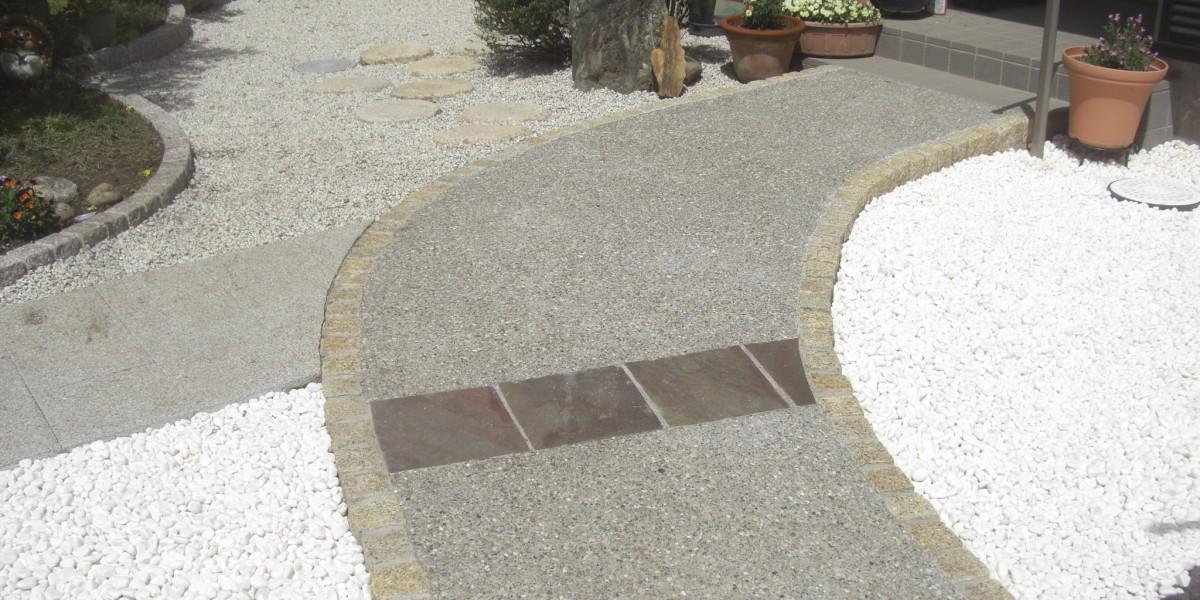 水はけの悪いお庭のリフォーム・アプローチ工事 江南市Y様邸