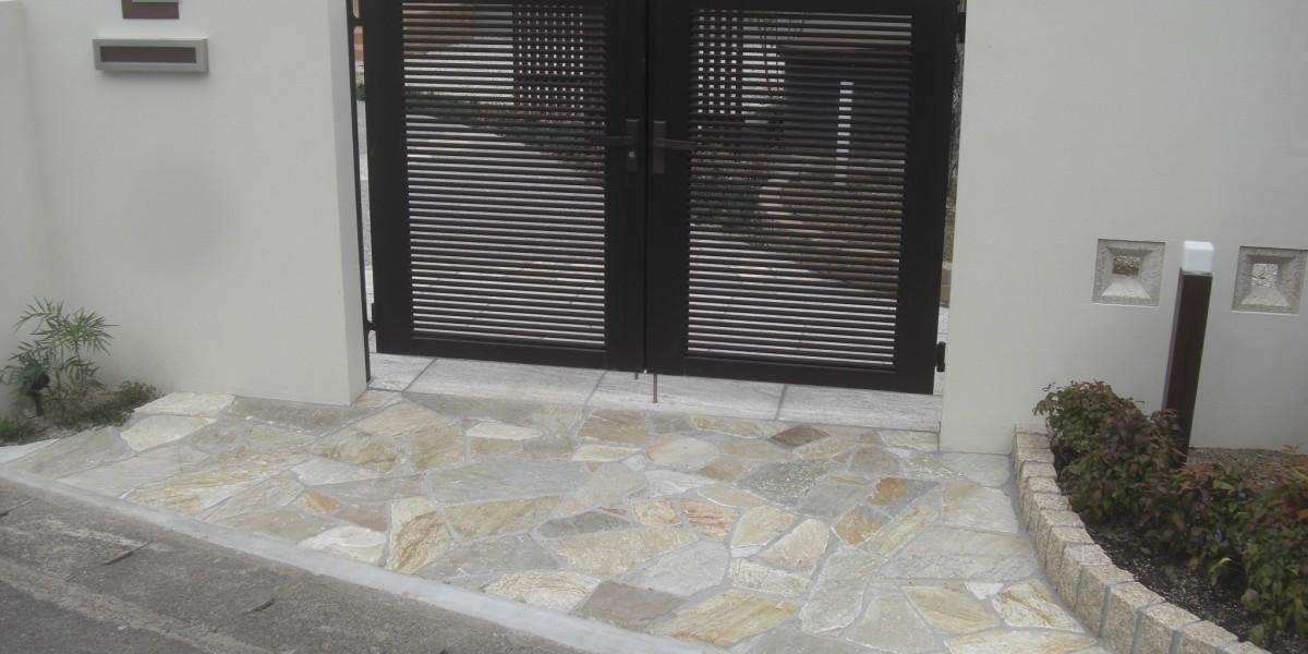 建て替え新築の外構工事 門廻り・アプローチの施工例 大口町O様邸