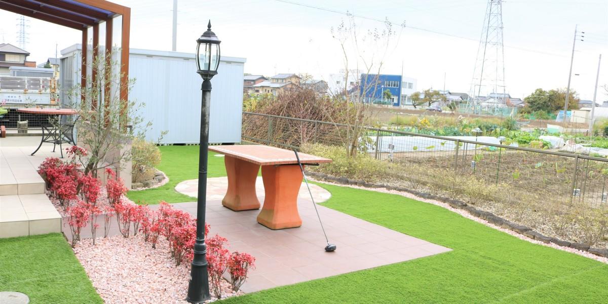 ゴルフの練習ができるお庭の施工例|扶桑町