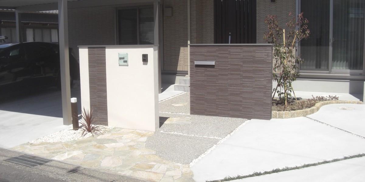手間のかからないシンプルモダンな新築外構工事の施工事例|扶桑町