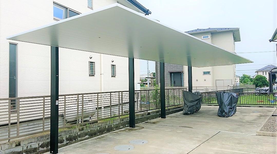シンプルモダンなカーポートの取付工事|江南市