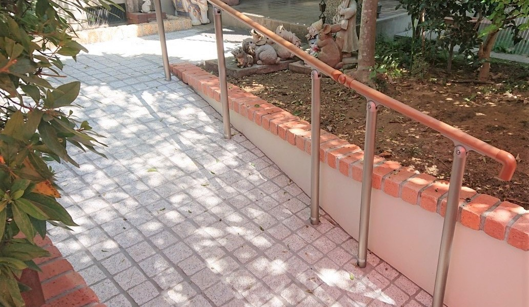 階段をスロープに改修 バリアフリーリフォーム|扶桑町
