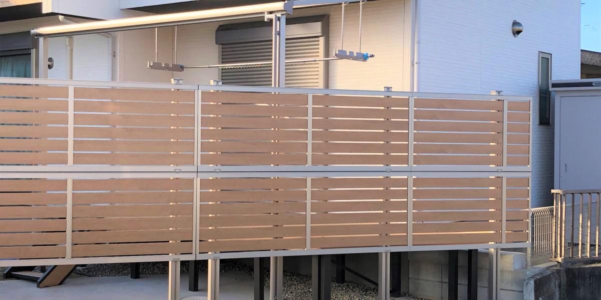 目隠しフェンスの延長とテラスとデッキの取付|江南市