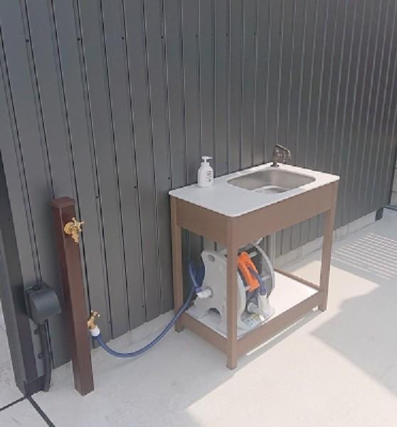 立水栓とガーデンシンク