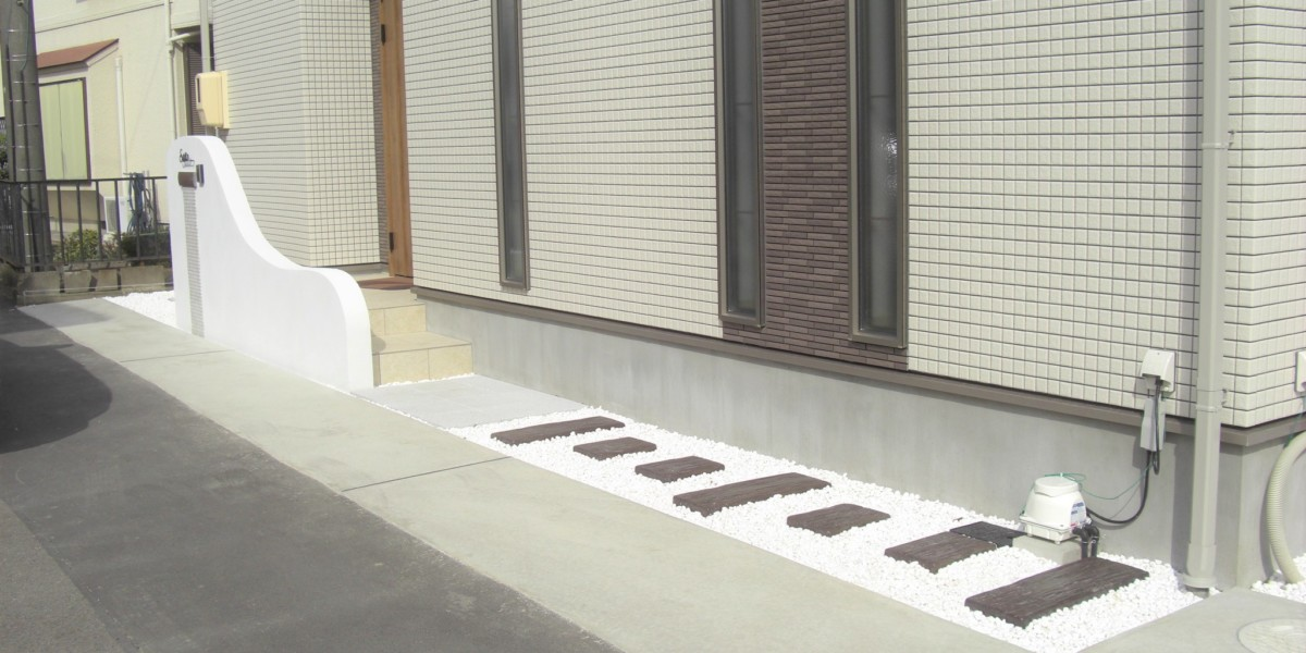 犬山市のS様邸 施工事例|外構 門 ナチュラル モダン
