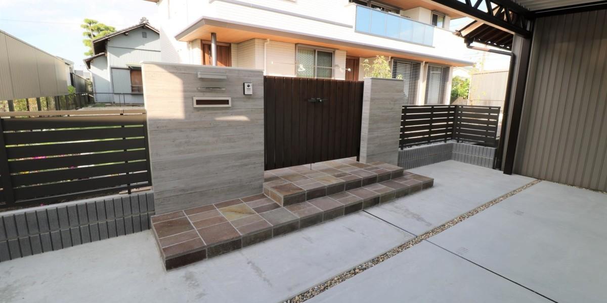 2世帯住宅のおしゃれな新築外構工事|北名古屋市