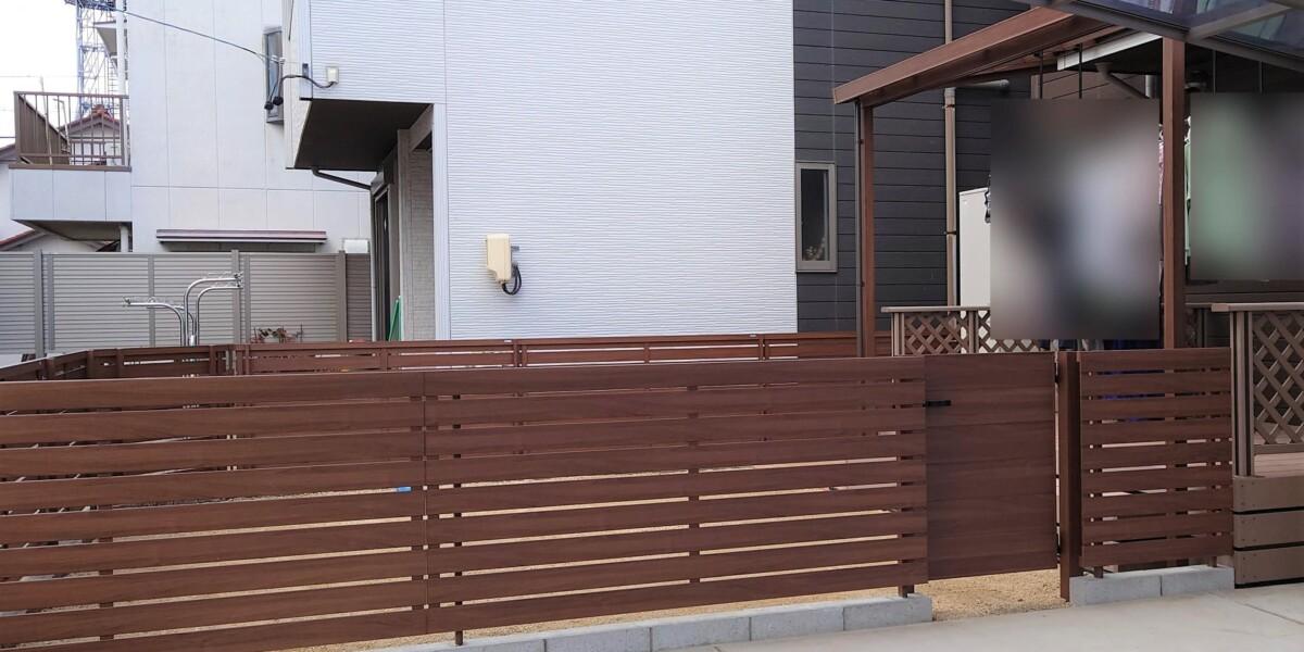 フェンスと門扉