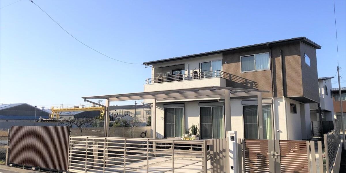 オープンだった外構を入居前にセキュリティ効果の高いクローズ外構にリフォーム|岩倉市