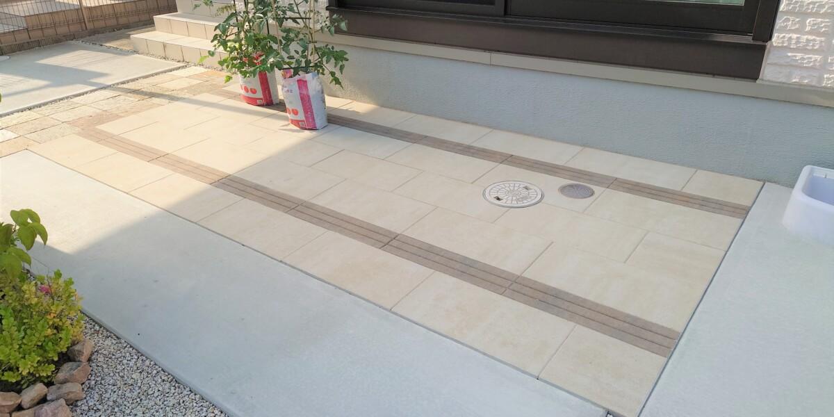 平板敷と土間コンクリート舗装①