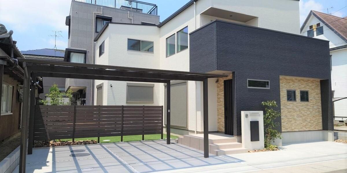 ナチュラルモダンな新築外構工事の施工例|江南市